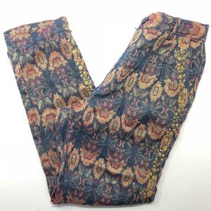 NEW Anthropologie  Boteh Jacquard Trousers 38 0473